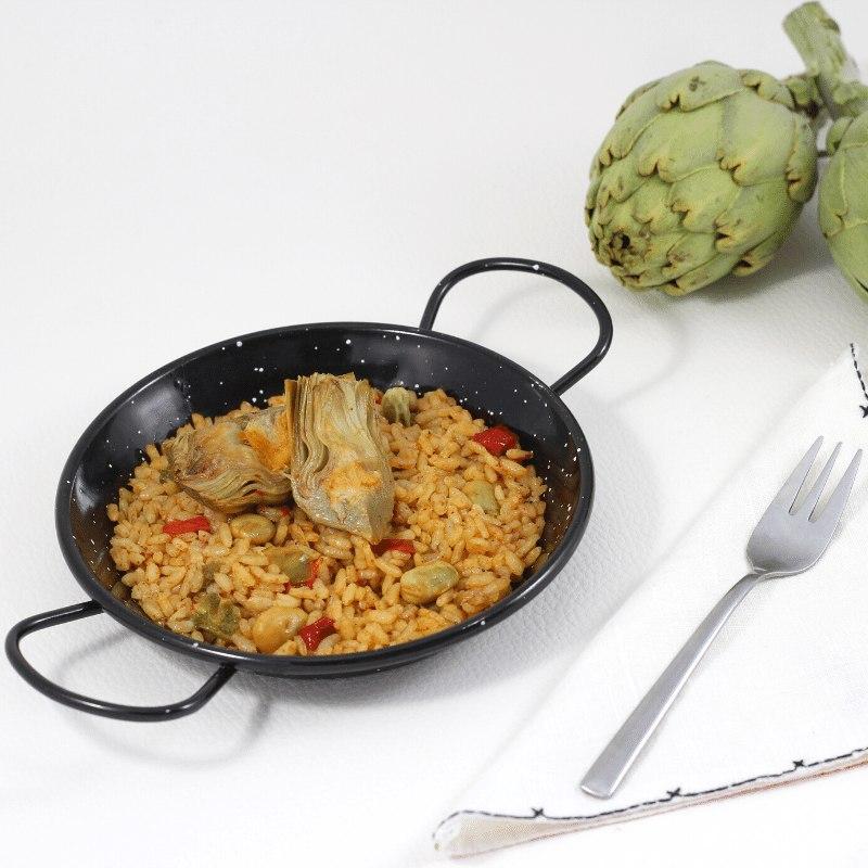 arroz con habas y alcachofas
