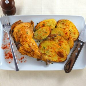 rostidera de muslos de pollo