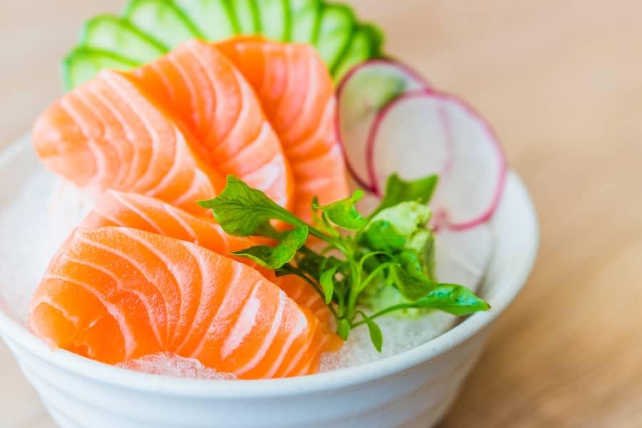 El mejor sushi en Aspe - Salmón Sashimi